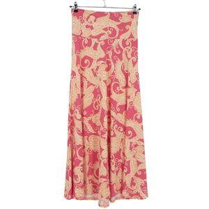 LulaRoe Pink Paisley Stretch Maxi Skirt  (K9)